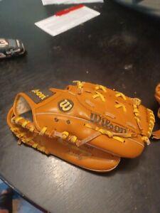 "Wilson Barry Bonds Advisory Staff Baseball Glove Mitt RHT 10.5"" Youth A2460"