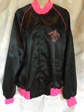 VTG Rodeo America NFR National Finals 1990 PRC Satin Jacket Las Vegas Large