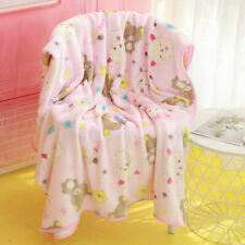 Rilakkuma bear pink fuzzy blanket blankets qulit pillowcase cartoon rug new