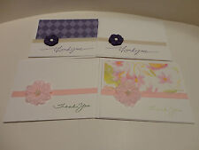 THANK YOU NOTE CARDS - 3-D Designs - Handmade