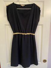 Ba&sh Vintage Navy & Gold Trim Mini Dress Size 2