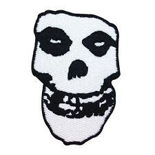 Misfits Crimson Ghost White Skull Patch Horror Punk Band Mascot Iron-On Applique