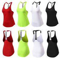 Women's Workout Yoga Vests Mesh Dri Fit Sports Running Jogging Tank Top Backless