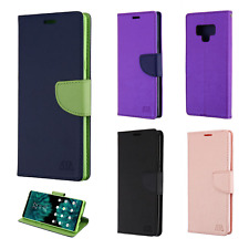 For Samsung Galaxy Note 9 Leather 2 Tone Wallet Case Pouch Flip Cover