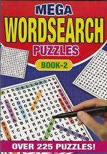 WORDSEARCH PUZZLE BOOK 2 225 PUZZLES - A5 PAPERBACK - BUY ANY 2 GET ANY 1 FREE