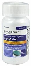 Simply Right - Sleep Aid 50mg Diphenhydramine 96 Softgels EXP 06/2018