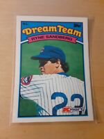 1989 Topps Glossy Dream Team #24 RYAN SANDBERG Chicago Cubs Baseball Card, HOF.