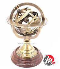 NAUTICAL BRASS SPHERE ASTROLABE ARMILLARY GLOBE COLLECTIBLE ANTIQUE UNIQUE GIFT