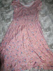 nwot Dot Dot Smile rose pink floral twirl dress girls 5 - 6 free ship USA