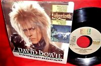 """DAVID BOWIE Underground from OST Labyrinth 7"""" 45rpm PS 1986 ITALY MINT-"""