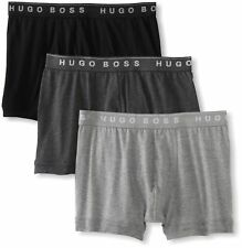 Hugo Boss 3 Pack Premium Cotton Boxers Trunks Gray Black Size L New /w Defect