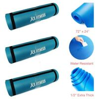 Extra Thick Non-Slip Pilates & Yoga Mat w/ Strap For Home Gym & Outdoor by AFIT