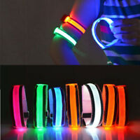 Flashing Wrap Snap Night Cycling Sports Safety LED Light Arm Band Belt Strap