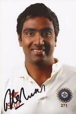 India: Ravichandran Ashwin Signed 6x4 Test Portrait Photo+Coa