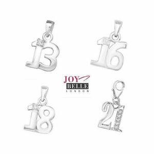 925 Sterling Silver 16th 18th 21st Birthday Necklace (18 inch) Gift Boxed