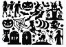 Die Cut Outs Silhouette Halloween shape 24 toppers Free stars, Scrapbooks fairy