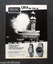 N357 - Advertising Pubblicità - 1968 - SEIKO , TAKE THE TIME