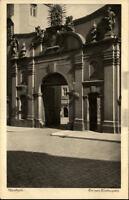 Bautzen alte Postkarte Sachsen 1910 Straßenpartie Tor zum Domkapitel ungelaufen