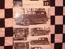 "rare ROLLS-ROYCE 20/25 HP SALOON 1936 / fiche cartonnée années ""60"""