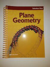 Plane Geometry Solution Key Abeka