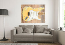 Yngwie Malmsteen Fender Stratocaster guitar WALL ART 3 foot wide close up photos