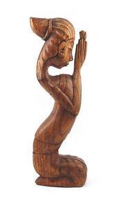 Balinese Prayer Woodcarving, 40cm