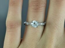 $9,150 Vintage Tacori Platinum 1.20ct GIA Diamond Eternity Engagement Ring 7.25