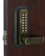 Lockey 2835AB Mechanical Keyless SINGLE COMBO Lever Lock, Steel, Antique Brass
