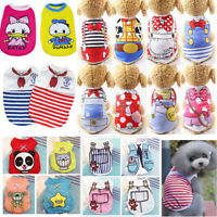 Various Pattern Pet Puppy Clothes Small Dog Cat Pet Dress Vest T Shirt Apparel