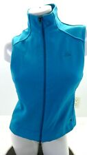ADIDAS WOMEN'S BLUE CLIMAWARM POLYESTER VEST SIZE M