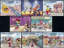 Antigua 1989 PhilexFrance/Disney/Mickey/Helicopter/Cartoons/StampEx set (s5541e)