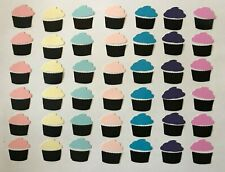 """42- 1"""" CUPCAKE/  CUPCAKES , HAND PUNCHED SILHOUETTE DIE CUT/ CUTS  84 pieces"""