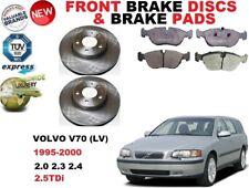 FOR VOLVO V70 LV ESTATE 1995-2000 FRONT BRAKE DISCS SET + BRAKE PADS KIT