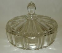 Vintage Anchor Hocking Clear Glass Lidded Candy Dish - OLD CAFE