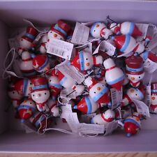 Joblot Wholesale 70 Snowman Snowmen Christmas Xmas decoration personalised names
