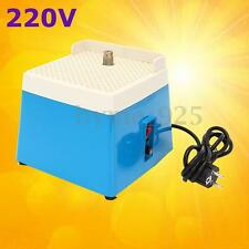 AC 220V  0.1A Mini Portable Stained Grinder Diamond Glass Art Grinding Tool Blue