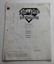 Brad Kern / Lois & Clark 1997 Superman TV Script * Season 4 Episode 21 Toy Story