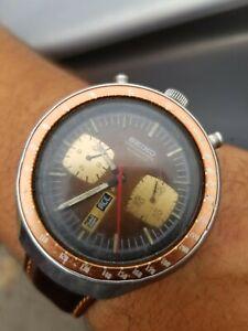 Vintage Seiko Bull Head 6138-0040 Chronograph Automatic Watch