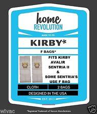 2 Kirby Avalir Sentria II Sentria Cloth Vacuum Cleaner Bags F Style