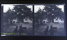 Auvergne Photo stéréo négatif sur film souple 1914