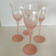Melinda Clear (Frosted)4 Piece Wine Goblet Stems by Crystal Clear Industries