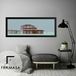 Wood Effect Modern 30mm Panorama Photo Picture Frame 10x4 12x5 12x8 12x9 15x5