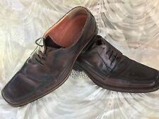 ALDO Men's Brown Leather Dress Oxford Shoes Lace Up Size EUR 42