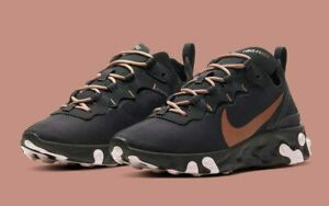 "NIKE REACT ELEMENT 55 ""HOLIDAY SPARKLE"" #CT1186 001 Oil Grey/Oil Grey-Echo Pink"