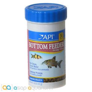 API Bottom Feeder Shrimp Pellets Fish Food 1.5oz (43g) Catfish Loaches Pelcos