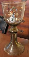 Theresienthal Roemer Armorial Enameled Glass Goblet Antique German