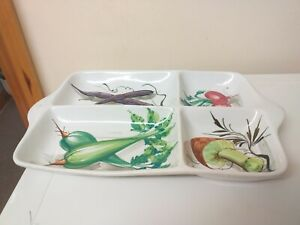 LOVELY ITEM..LARGE SIZE...SERVING DISH..TRAY...ITALIAN...POTTERY...SALAD DESIGN