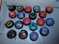 1 RARE VTG 1993 GOOD STUFF NHL PLUSH MINI 2.5'' HOCKEY PUCK HANGER CHOOSE TEAM
