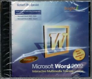 Master It! Microsoft Word 2002 Pc New XP Interactive Multimedia Training Course