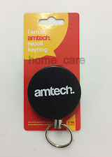 NEW Retractable Key Chain Holder Split Ring Badge Recoil Belt Clip Pull Chain ID